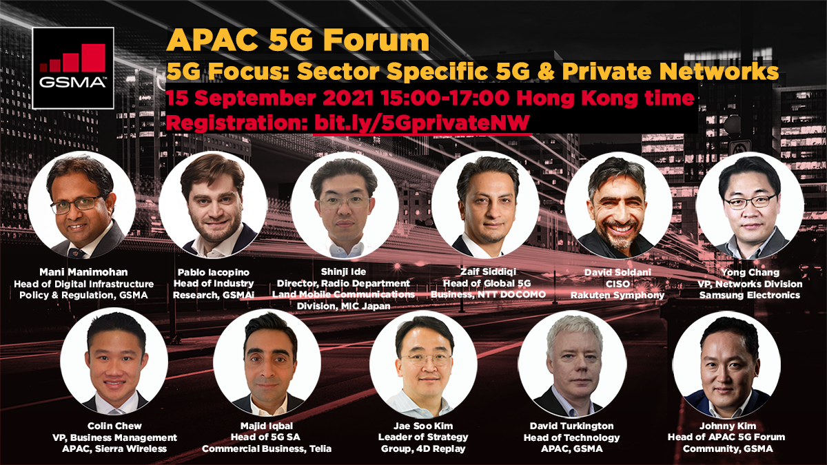 5G FOCUS webinar: Sector Specific 5G & Private Networks