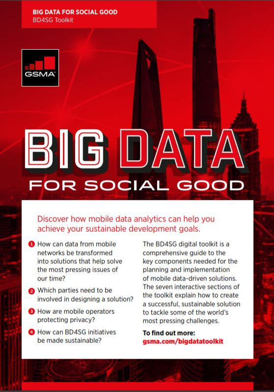 Big Data for Social Good Toolkit Flyer image
