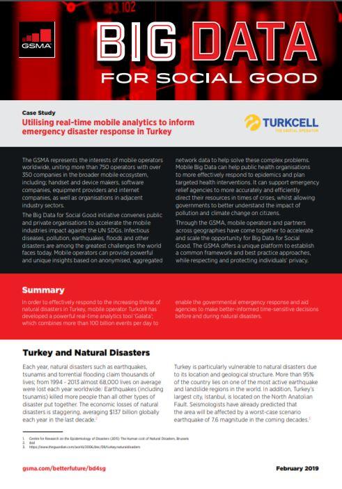 Utilising real-time mobile analytics to inform emergency disaster response in Turkey image