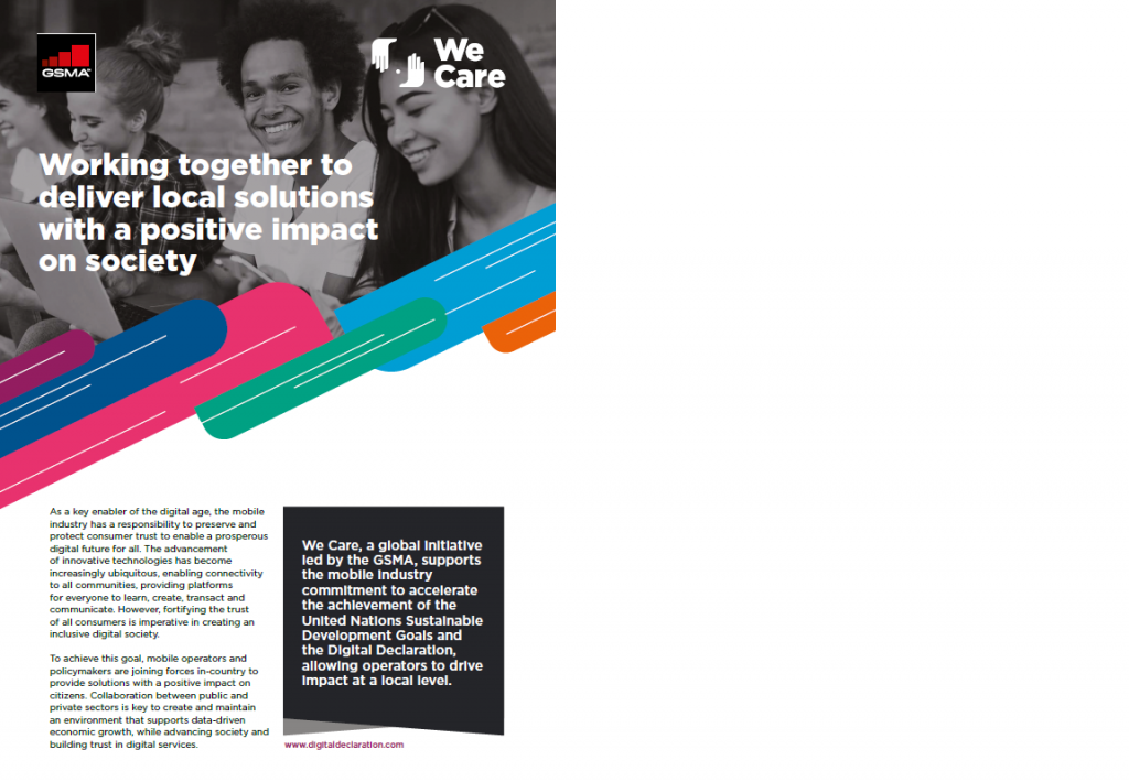 GSMA We Care Initiative Overview Flyer image