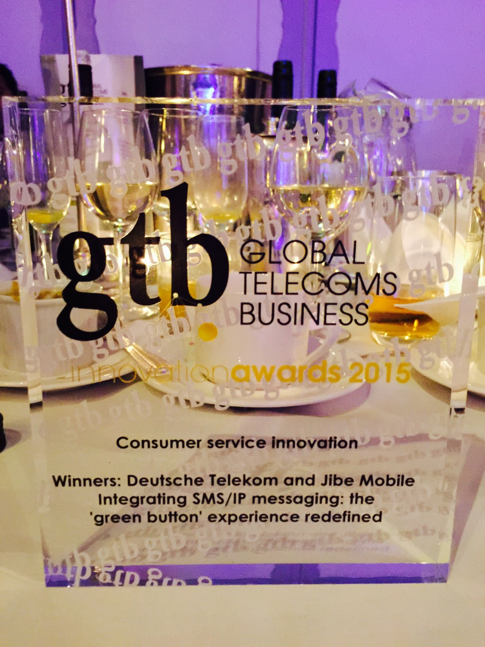 Gsma Winners Deutsche Telekom And Jibe Mobile Accept Prestigious Global Telecoms Business Innovation Award Future Networks