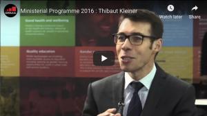 Ministerial Programme 2016 : Thibaut Kleiner