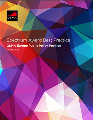 GSMA Europe Public Policy Position on Award Best Practice image
