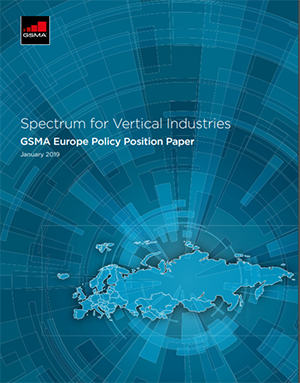 GSMA Europe Public Policy Position on Spectrum for Vertical industries image