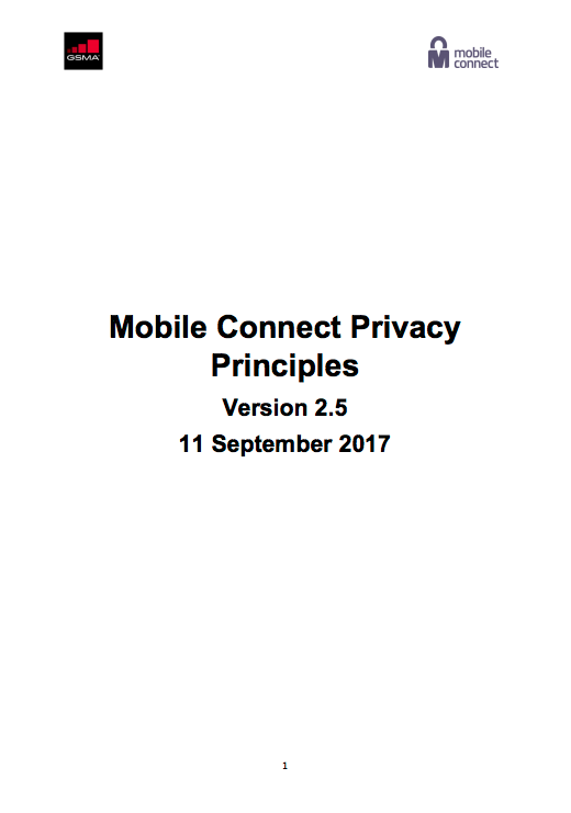 Mobile Connect Privacy Principles image