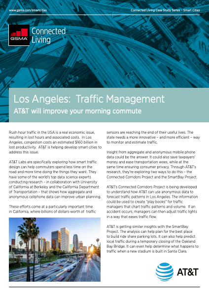 GSMA Los Angeles: Traffic Management AT&T will improve your