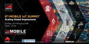 GSMA 6th Mobile IoT Summit - LTE-M NB-IoT