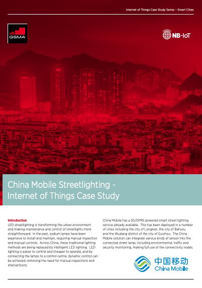 GSMA China Mobile Streetlighting - Internet of Things Case
