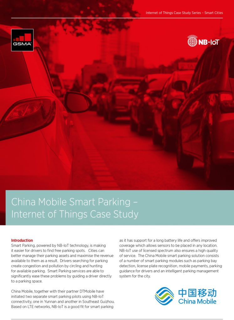 GSMA China Mobile Smart Parking – Internet of Things Case