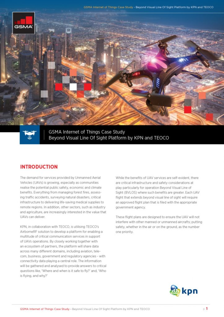 Drones Case Study: Beyond Visual Line Of Sight Platform by KPN and TEOCO image