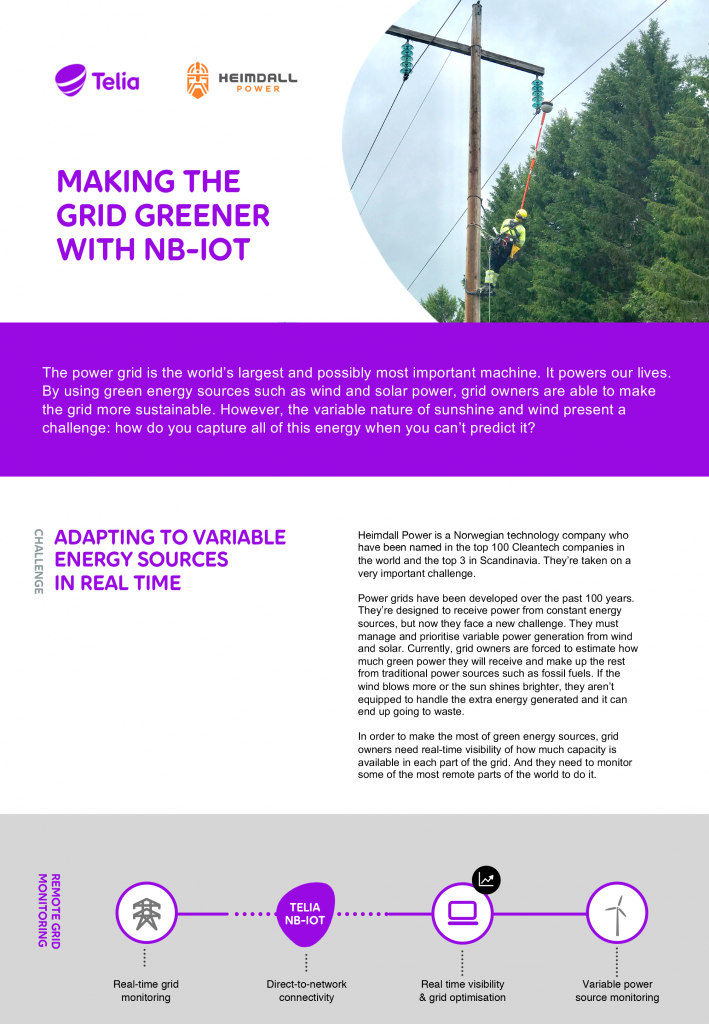Making Way for Green Energy with Telia NB-IoT image