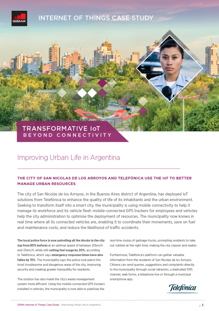 IoT Beyond Connectivity Case Study by Telefónica: Improving Urban Life In Argentina image
