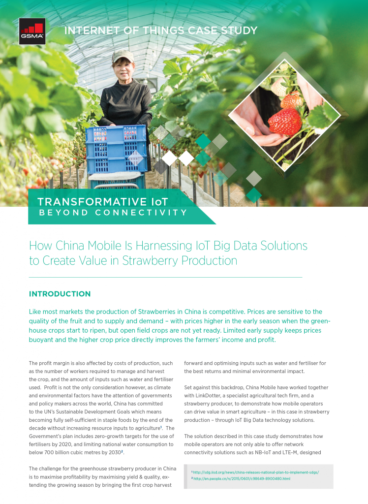 IoT Beyond Connectivity Case Study: How China Mobile Is Harnessing IoT Big Data Solutions to Create Value in Strawberry Production image