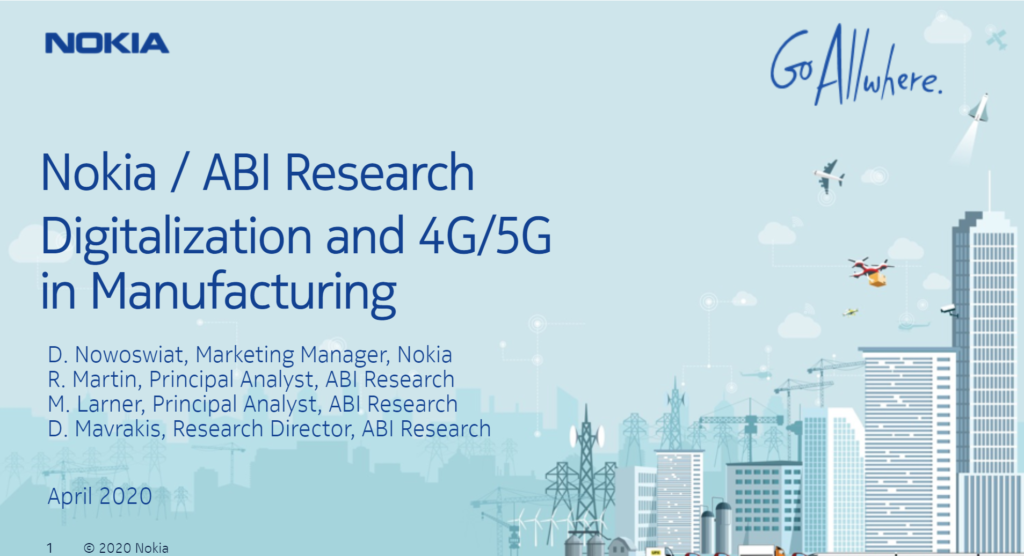 Webinar: Where does 4G/5G private wireless fit into the Manufacturer's digitalization journey? image