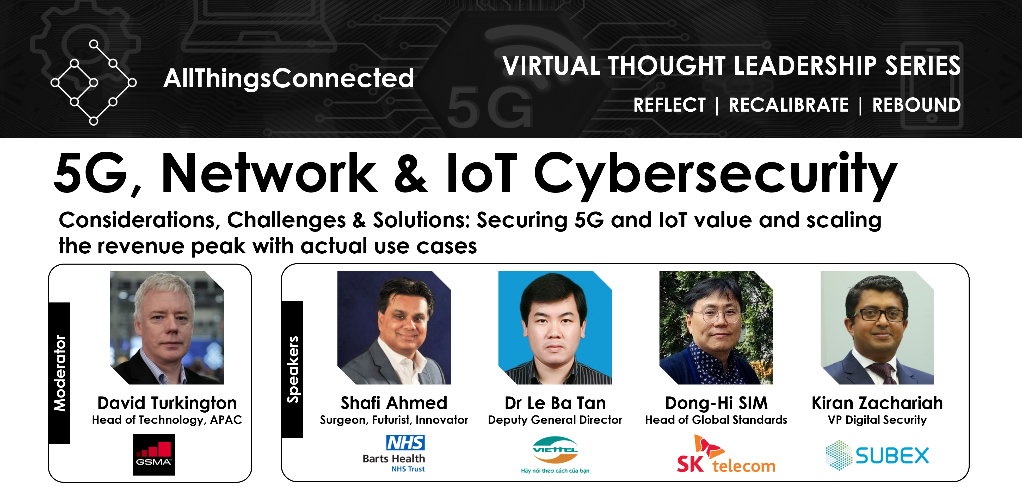 "GSMA IoT at ""5G, Network & IoT Cybersecurity"" Webinar by AllThingsConnected"