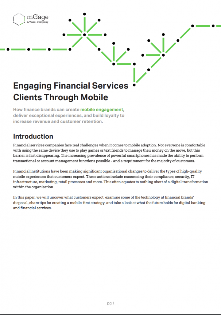 Engaging Financial Services Clients Through Mobile image