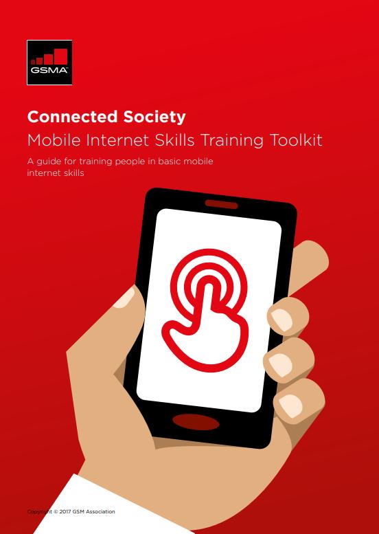 GSMA Mobile Internet Skills Training Toolkit: A guide for training people in basic mobile internet skills image