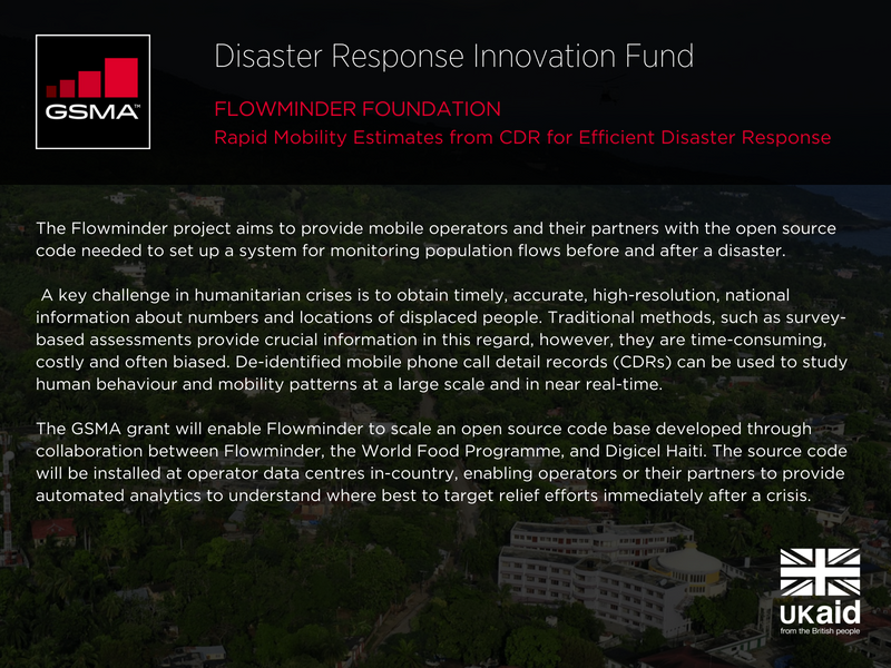Flowminder Foundation - Rapid Mobility Estimates from CDF for Efficient Disaster Response
