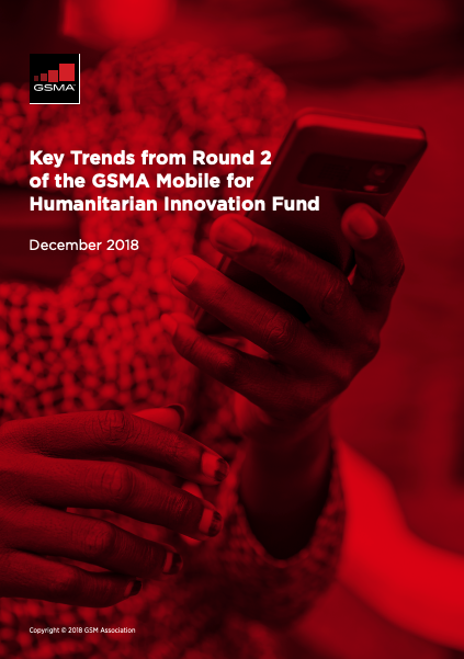 Key Trends from Round 2 of the GSMA Mobile for Humanitarian Innovation Fund image