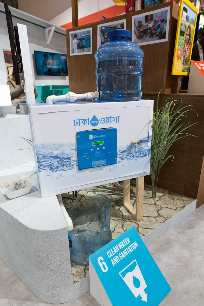 Drinkwell's water ATM being showcased at Mobile World Congress 2019