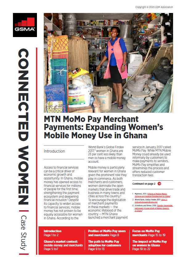 MTN MoMo Pay Merchant Payments: Expanding Female Mobile Money Usage in Ghana image