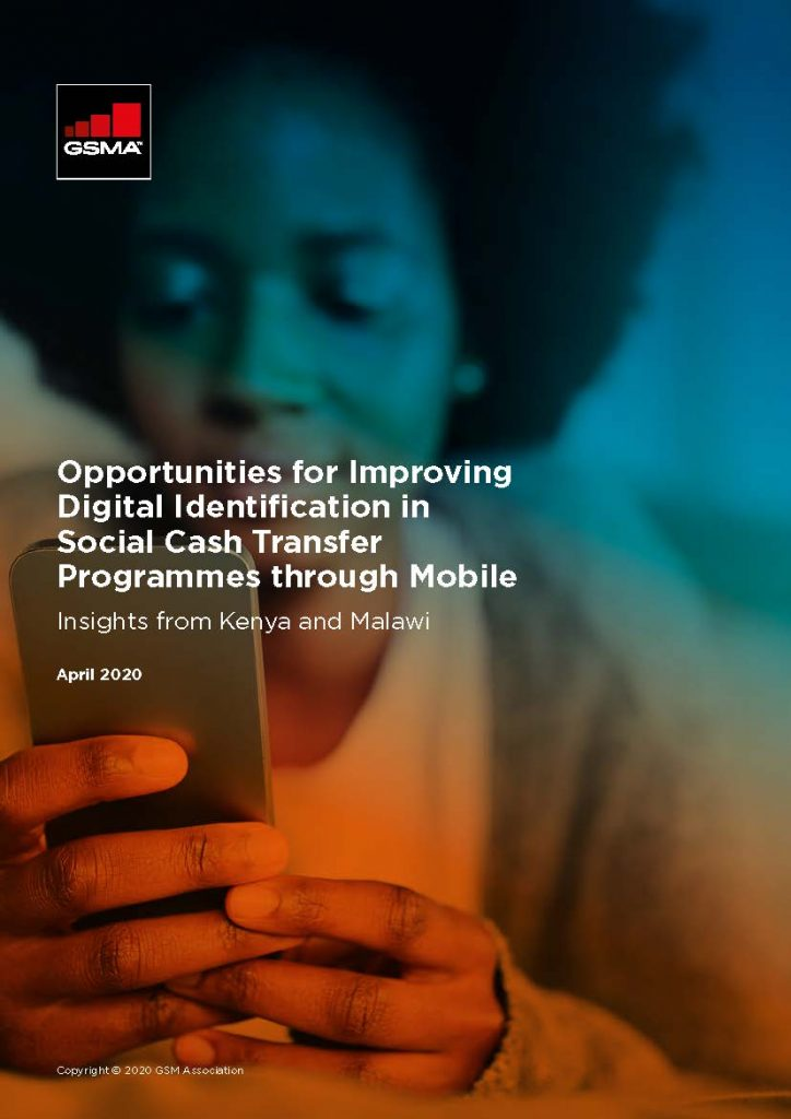 Opportunities for Improving Digital Identification in Social Cash Transfer Programmes through Mobile image