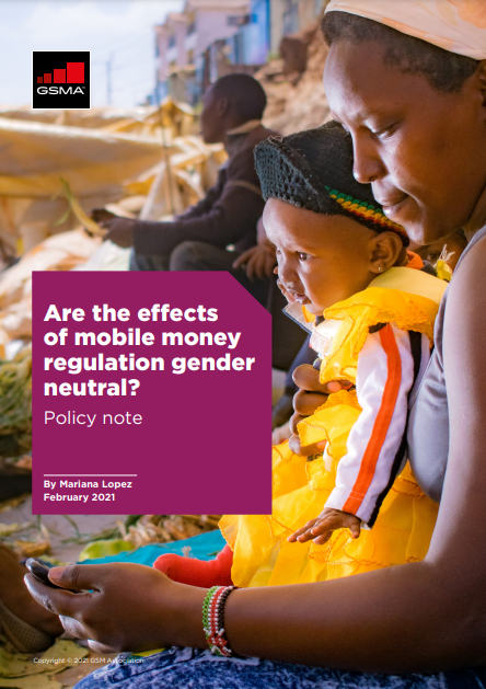 Are the effects of mobile money regulation gender neutral? image