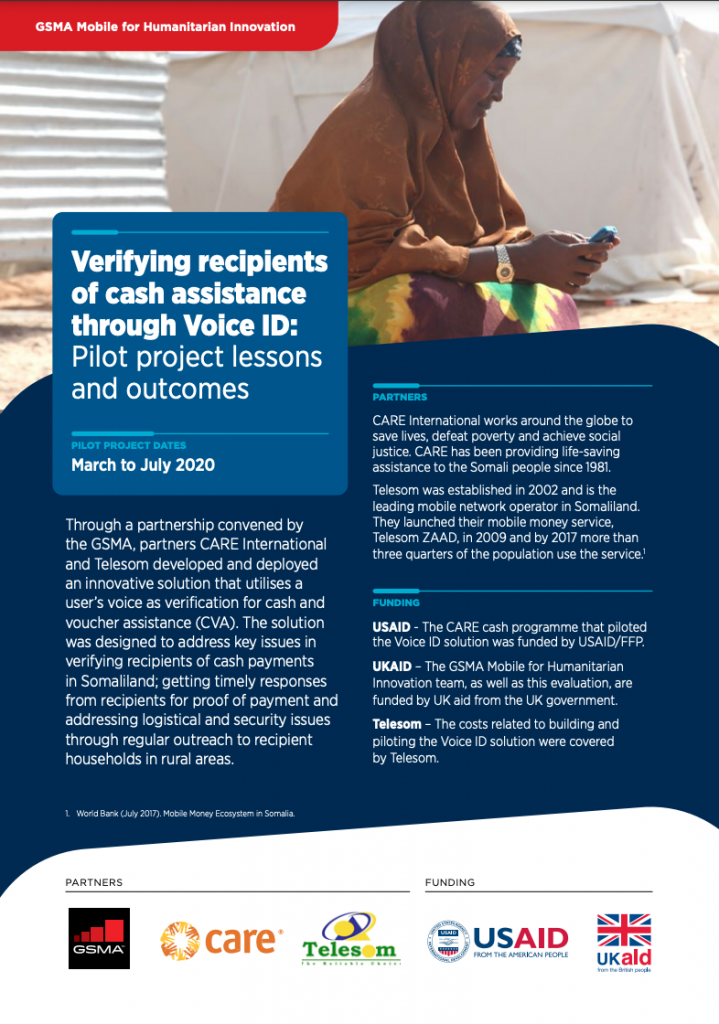 Verifying recipients of cash assistance through Voice ID: Pilot project lessons and outcomes image