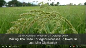 Webinar: Making the Case for Agribusinesses to Invest in Last-Mile Digitisation