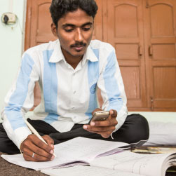 Durgesh and mobile learning, Uttar Pradesh, India