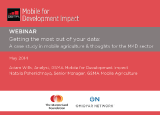M4D Impact Webinar: Getting the most out of your data - mAgri Case Study