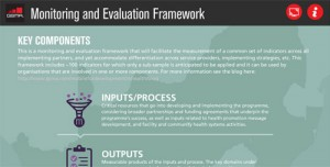 Evidence for scale: the development of a monitoring and evaluation framework for mHealth